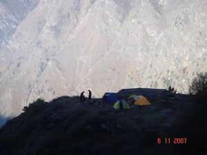 First Campsite set up by MS at Kannuk on the way to Nandadevi Santuary trek