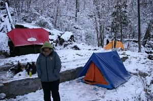 One of their campsites