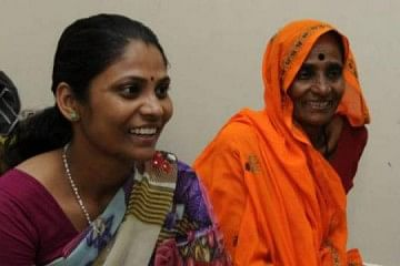 Bhanwari Devi (right) with her daughter Rameshwari, in Mangalore