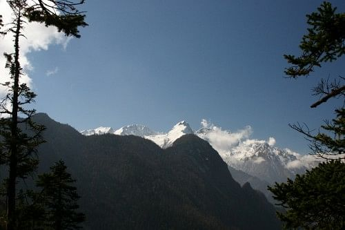 A view of the Garhwal Himalayas