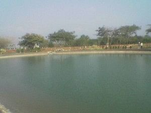 The lake at Guntur after the restoration work was complete