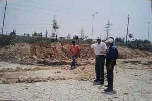 he Ecoserve team conducting preliminary surveys at the site in Guntur