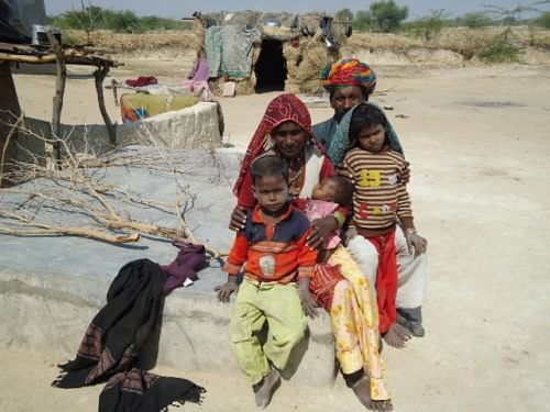 A Bagariya family in the outskirts of Ajmer