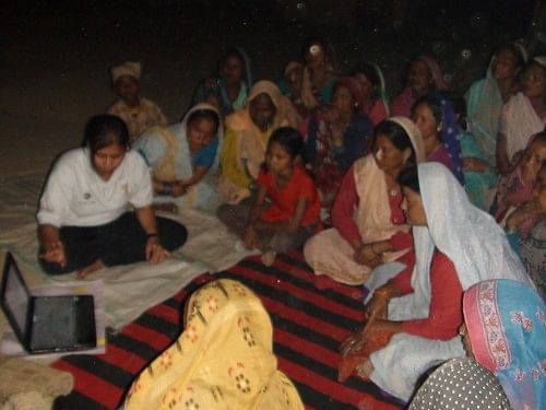 Community awareness training: These take place at night for the convenience of the women