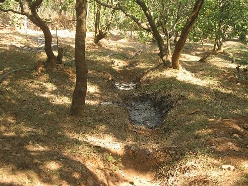 Trenches dug at AR farms, Heroor village, Kundapur, Udupi district