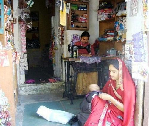 Local Rajasthani women may not have much formal education but the one skill they possess is sewing. (Credit: WFS)