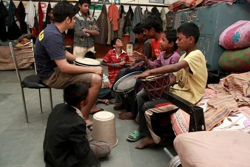 Music Basti provides at-risk children in India with the chance to experience the magic of music.