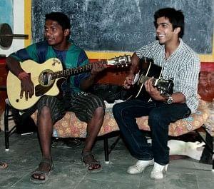 Music Basti's work has given the children a better sense of self-worth.