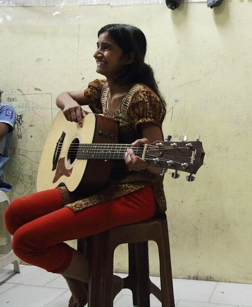 Music helps some of these kids who have suffered trauma or abuse relax