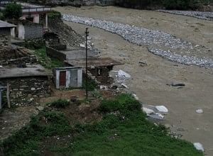 The ghost town of New Didsari, which has got washed away