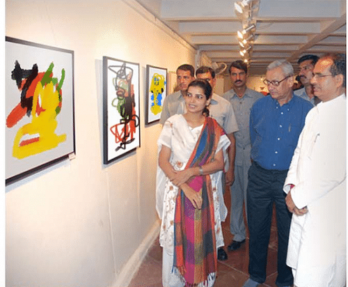 The exhibition that showcased the paintings done by the blind children