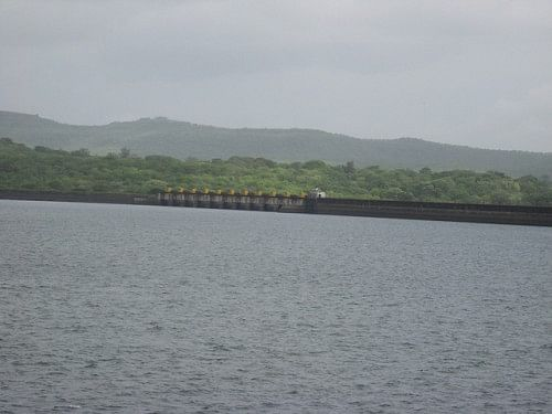 The Khadakwasla dam near Pune after the heavy showers.
