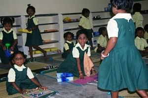 The children at Sevalaya are active and have been taught to believe in self-help.