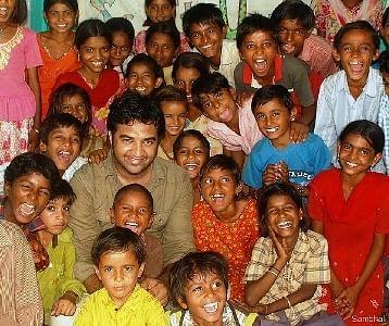 Govind Singh Rathore with Setrawa kids