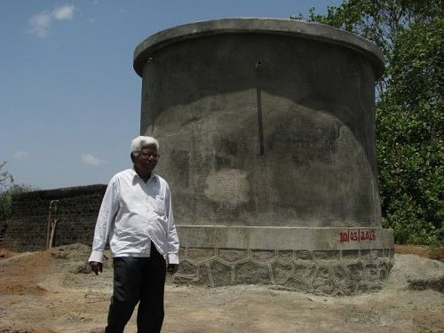The 21,000 litre water storage tank built by Swades in Jambul