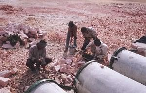 The execution of transformation plans began in right earnest : Water harvesting structures being erected.