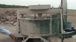 Use of machine specially got made from Didwana, near Nagaur, to process the raw lime, which used to be traditionally processed using camels.