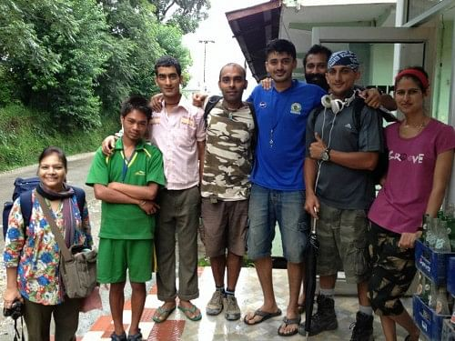 Adiytya Shinde and team at SAHIL 'For Uttarakhand'