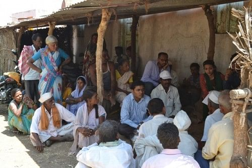 Villagers gathered around to find solutions to their water problems