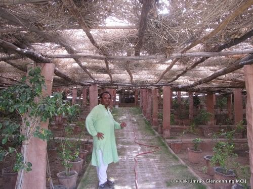 Mr. Varun Arya in the Natural Meditation Centre at the site.