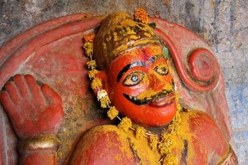 Khandoba, a detail.