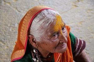 A warkari woman.