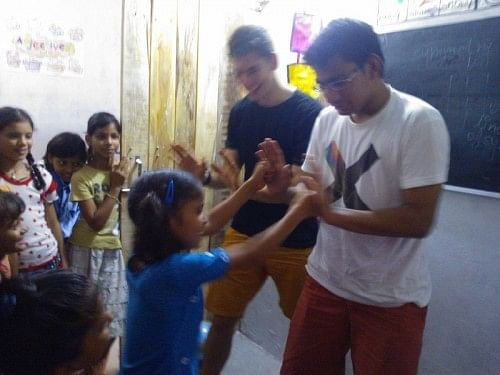 Our self defence camp: a scene enaction