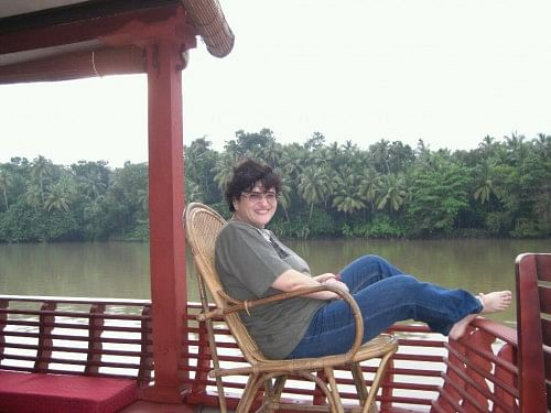 Divatia on one of her travels, to Kerala.