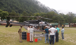 The generous gift of 10 helicopter sorties provided by the grateful administration