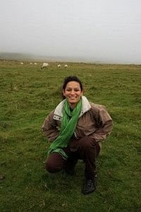 'Prerna Agarwal, the Kaas Woman. She's on a Rufford project to study and minimize the impact of tourism on Kaas plateau.