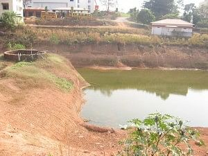 The Rainwater Harvesting pond dug in the Yenepoya Medical College campus, Delarekatte, Mangalore