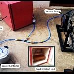 A pictorial representation of the innovative refrigerator that can be a boon to the poor man and those living in remote areas