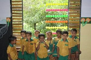Children at the Tamarind School can speak fluent English and are learning technology too!