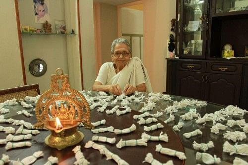 Amoomatthiri or Grandma Wicks was born when Lakshmi Menon noticed her grandma making lots of wicks and the joy it gave her