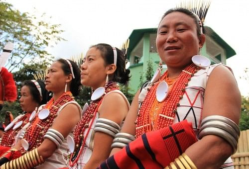 Women at the Hornbill Festival