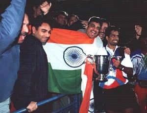 Gopi with one of his many international wins for the country