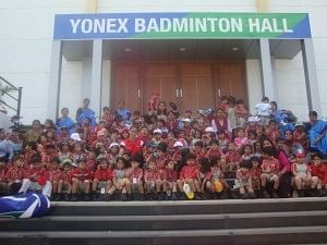 Gopi Chand's academy - training the next generation of Badminton players in India!