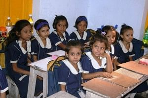Education for girls is given special importance at the school
