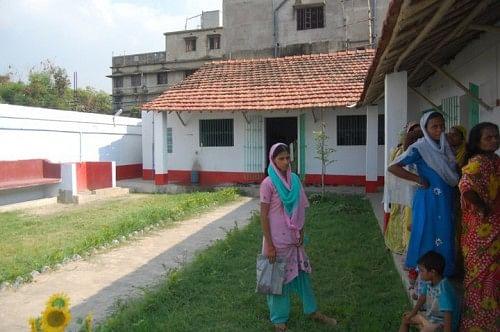 Patients awaiting their turn at the Samaritan Health Centre