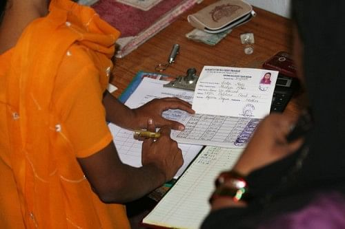 Micro credit is provided to women to enable them to start small businesses
