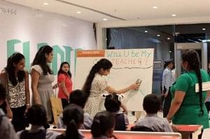 Innovative promotional strategy - Teach A Child team in Elante Mall