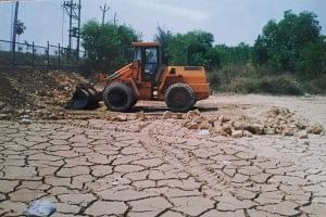 A dried up lake at Guntur was revived with great effort