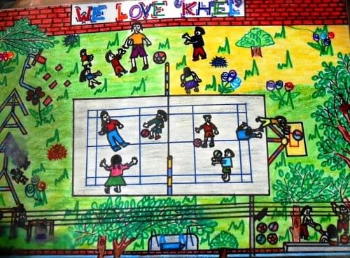A beneficiary's depiction of their play spcae in the KHEL session