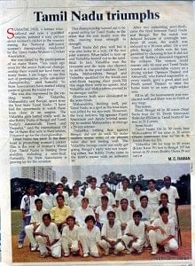 Before the accident, Preethi was the captain of the Under-19 Women's Cricket Team in Tamil Nadu