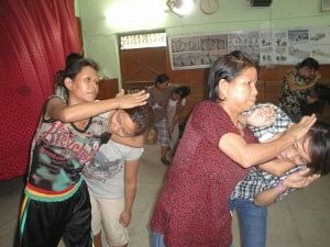 The Delhi Police has conducted self defence classes for refugee women in Delhi. (Credit: UNHCR/N.Bose)