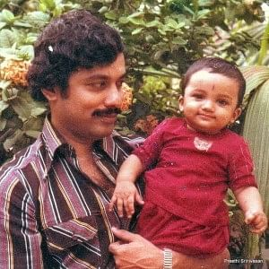 Baby Preethi with her father