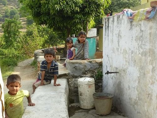 Rainwater harvesting tanks become an important part of the village community