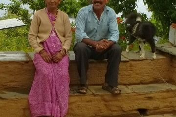 Sudha and Bhuvan Gunavante at their home in Guna, Almora district, Uttarakhand. They have installed rainwater harvesting tanks in their house and farm- a move that has revolutionized their life and livelihood