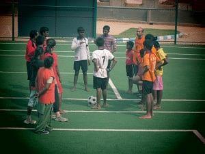 A football game Ananya style