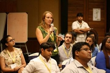 Audience interaction at Sankalp Unconvention Summit